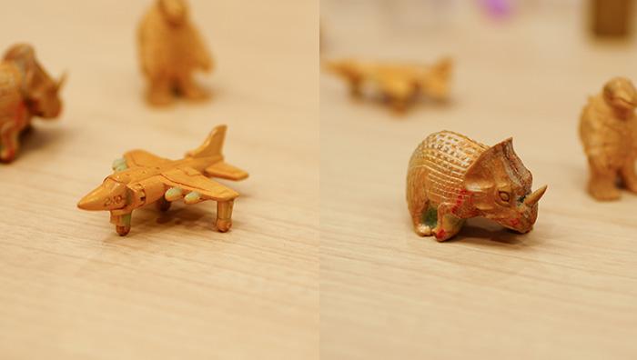 当時の貴重なカプセル玩具とその木型を持ってきてくれました。2