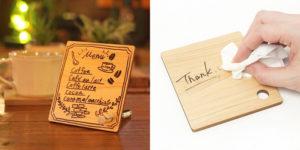 木製のメッセージボード