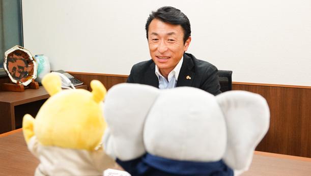 法師人社長のインタビュー写真