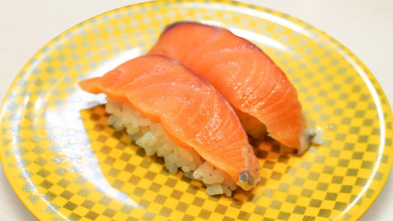 サーモンのお寿司の写真
